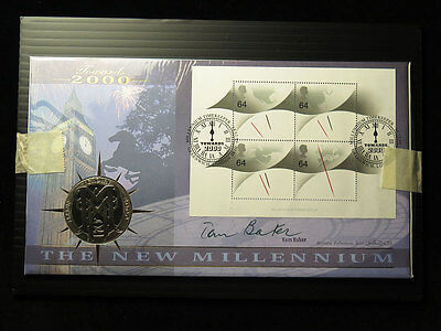 Benham Hand Signed Coin Cover Millennium 2000 Tom Baker (Dr Who actor)