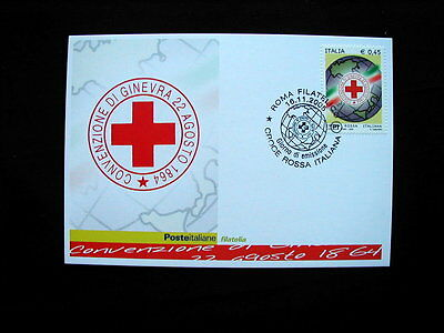 2005 Italy Rome First Day FDC card RED CROSS Ginevra 1864 with stamp
