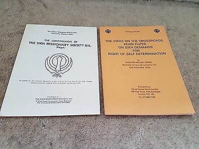 Sikh Rare 1980 Literature And 1950S Booklet