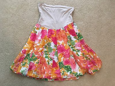 A Pea In The Pod Floral Maternity Skirt With Full Belly Band Size Medium