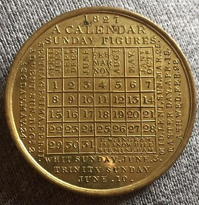 British Calendar Token 1827 Beautiful Unc!!!!