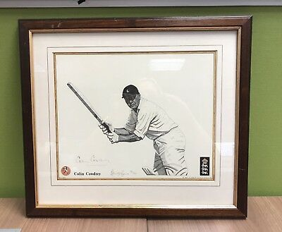 Cricket Colin Cowdrey Signed Autograph Byrne Limited Edition Print