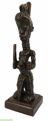 Lulua Male Figure Congo on Stand African Art
