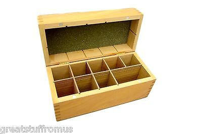 Large Wooden Storage Box - Holds 6 Gold Test Acids and Test Stone