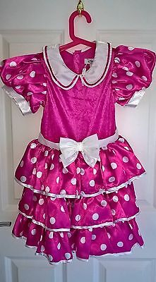 Minnie Mouse Costume Dress age 7-8/128cm originally bought from The Disney Store