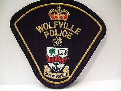 police patch  WOLFVILLE POLICE NOVA SCOTIA  CANADA  NEWER STYLE
