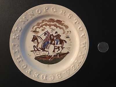 Vintage Alphabet Plate Small Dish Horses