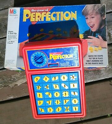 The Game Of Perfection By Milton Bradley Works! 1990 Edition