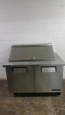 True 48'' TSSU-48-18M-B Salad Sandwich Prep Table 115v Tested Mega Top