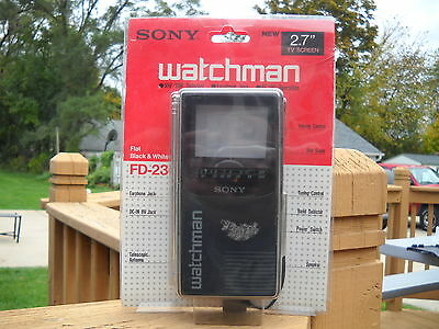"Vintage Sony FD-230 Watchman Walkman Portable TV  2.7"" 1980's Video Electronics"