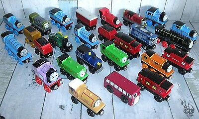 Set of 26 THOMAS the TANK ENGINE Toys Trains LOT Wooden Toy Collection SEE PICS