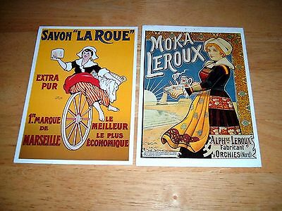 2 Large Postcards Of A Modern Reproduction Of French Posters.