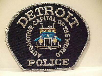 police patch  DETROIT POLICE MICHIGAN AUTOMOTIVE CAPITAL OF THE WORLD