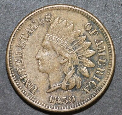 USA One Cent 1859 Indian Head Cent