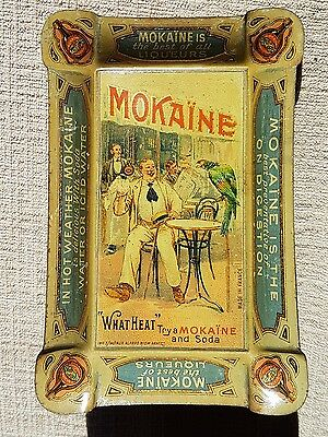 Ancienne Coupelle Bistrot Tole Lithographiee Mokaine Liqueurs Absinthe