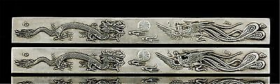 1PC, Collection Lucky Miao silver Dragon / phoenix pattern PAPER-WEIGHT