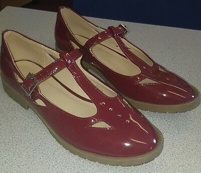 Dark red women's Brogues Asos size 5