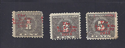 RB44, RB46, RB60 with Andrew Jergens printed cancels