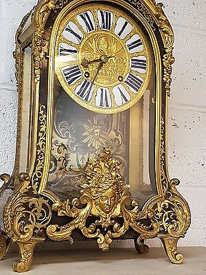RARE Superb Large 19th Century Boulle Btacket Clock