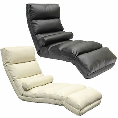 Floor Lounger/chaise Longue Leather Eff Adjustable Lounge Armchair Seat/chair