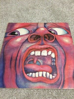 KING CRIMSON  IN THE COURT OF THE CRIMSON KING 1st PRESS LP PINK ISLAND LABEL
