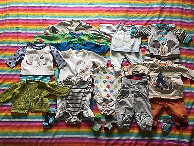 Baby Boy Clothes 0-3 Months Bundle