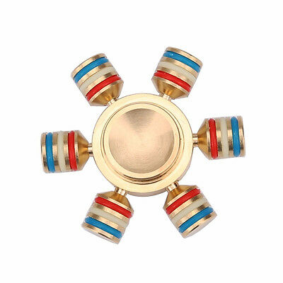 10x Hand Spinner Fidget Toy ADHD Focus Gyro Durable Speed Brass Bearing DIY X6