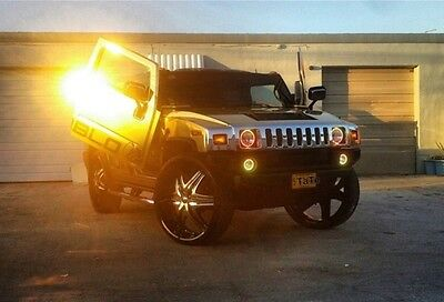 2005 Hummer H2  2005 GOLD CHROME HUMMER (H2) W/ 32 INCH DIABLO ELITE WHEELS