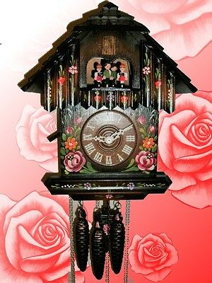 Classic Musical Painted Flowers Antique Style Cuckoo Clock #47