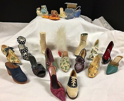 Just The Right Shoes by Raine Lot of 20, 1 trinket piece, 1 purse & 1 boot NICE!