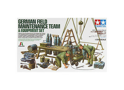 Tamiya 37023 1/35 German Field Maintenance Team w/Equipment Se TAM37023