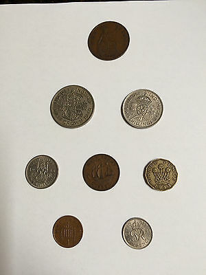 British Coins  - Lot of 7 1930-1951 Circulated