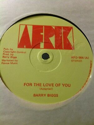 Barry Biggs-For The Love Of You/version -Afrik 12''reggae
