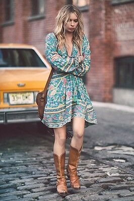 Spell And The Gypsy Collective Folktown Playdress Medium Turquoise