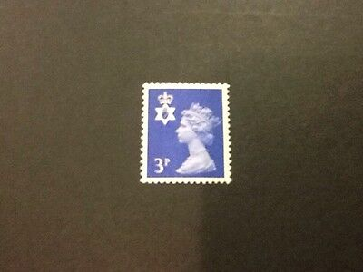 GB QEII Northern Ireland SG NI13 3p Ultramarine 2B. Regional Machin.