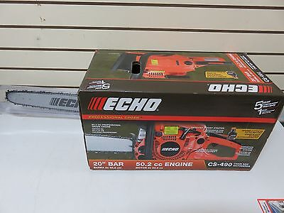"Echo 20"" Bar 50.2cc Professional Grade Chainsaw CS-490"