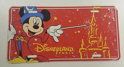 Vintage Disneyland Paris License Plate