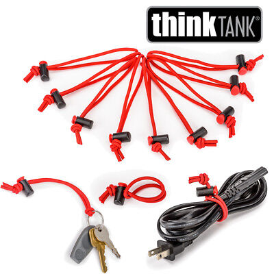 Think Tank Photo Red Whips Adjustable Cable Ties ( 10 Pack)