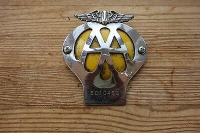 AA Automobile Association Car Badge Emblem Vintage No 6C10460