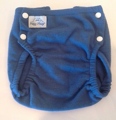 Happy Heinys Cloth Diaper Cover Stretch Wool Single Layer Blue Stacinator Large