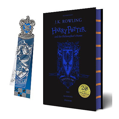 20th Anniversary Ravenclaw Harry Potter & the Philosopher's Stone + Bookmark NEW