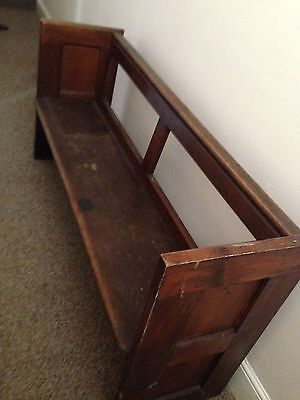 Victorian Church Pew; vintage, antique