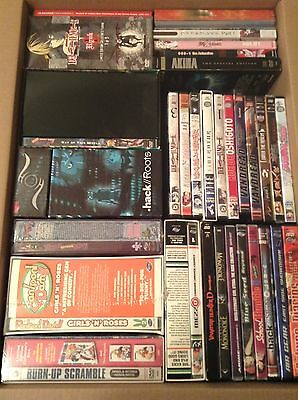Huge Anime DVD Lot 32 DVDs Many Rare And Hard To Find & Out Of Print English R1