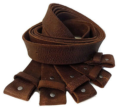 "Lot Of 5 Washed Up Hollywood Unisex Size 28 1.5"" Old Vintage Brown Leather Belts"