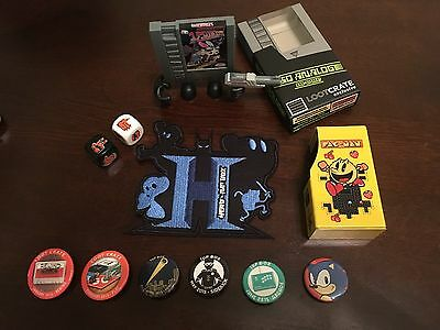 Lootcrate and 1Up Box Random Items Lot