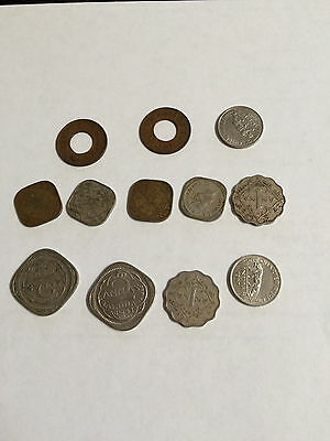 British India Coins - Lot of 12 1940's Circulated