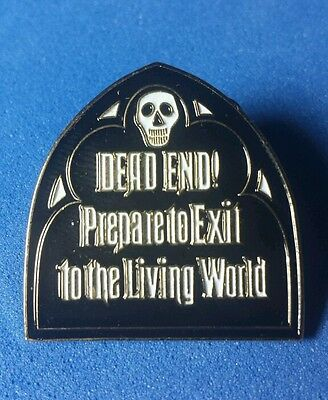 Haunted Mansion Exit Sign Dead End RARE Disney Pin LE 700