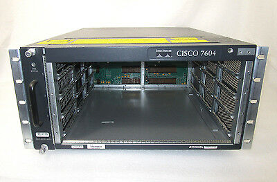 Cisco CISCO7604 4-slot Router Chassis 7600 Series w/ 1x PSU & Fan *DENT on top*