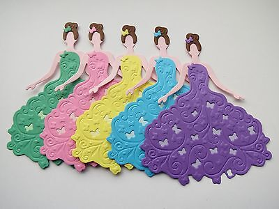 For sale, 5 die cut and embossed butterfly princesses,