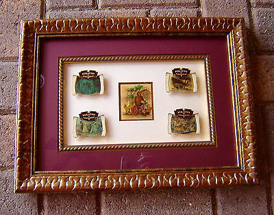Pirates of the Caribbean Ride Thru The Chase WDI 5 Pin Disney Framed Set LE 100